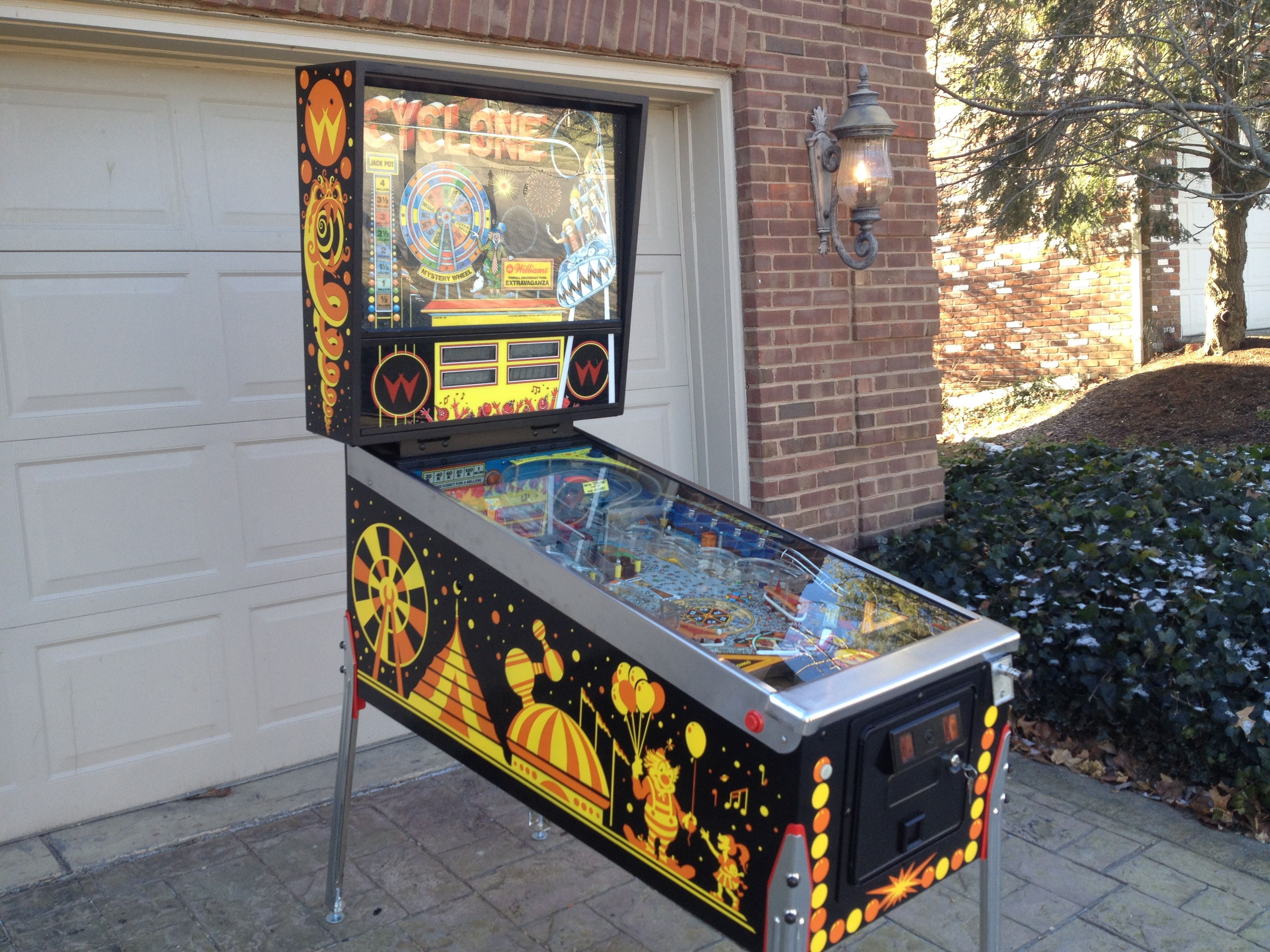 Cyclone Williams 1988 Pinball Castle Classic Arcade